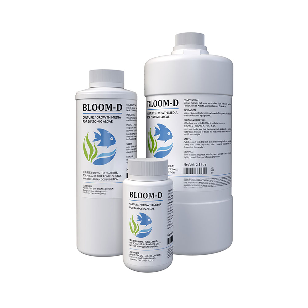 Bloom-D (Sodium Silicate Gel with other algae nutrients)